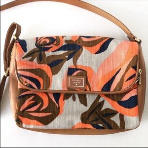 Fossil Floral Preston Crossbody with Flap